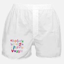 Funky Alphabet Boxer Shorts