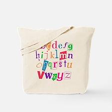 Funky Alphabet Tote Bag