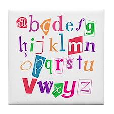 Funky Alphabet Tile Coaster