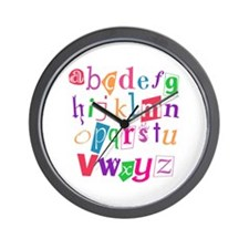 Funky Alphabet Wall Clock