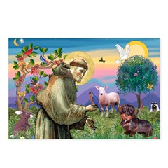 St Francis Doxie Postcards (Package of 8)