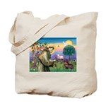 St Francis Doxie Tote Bag