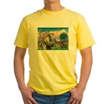 St Francis Doxie Yellow T-Shirt