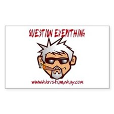 Question Everything Rectangle Sticker 10 pk)