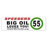 SPEEDERS, BIG OIL LOVES YOU Bumper Sticker (50 pk)