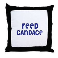 Feed Candace Throw Pillow