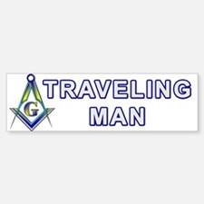 Masonic Traveling Man Bumper Bumper Bumper Sticker