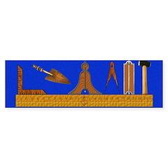 Masonic Working Tools Bumper Bumper Sticker