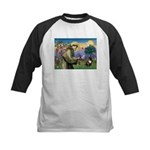 St. Francis Brindle Frenchie Kids Baseball Jersey