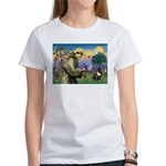 St. Francis Brindle Frenchie Women's T-Shirt