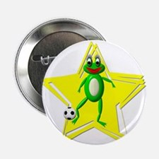 """Girls Soccer Ms Frog 2.25"""" Button (10 pack)"""