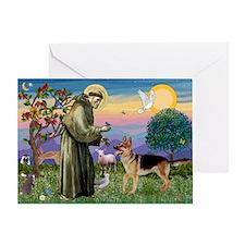 St Francis / G Shep Greeting Card