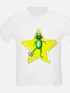 Girls Soccer Ms Frog Kids T-Shirt