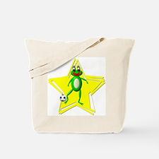 Girls Soccer Ms Frog Tote Bag