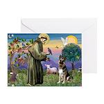 St. Francis & German Shepherd Greeting Card
