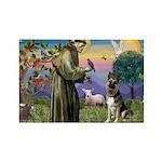 St. Francis & German Shepherd Rectangle Magnet