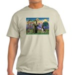 St. Francis & German Shepherd Light T-Shirt