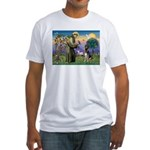 St. Francis & German Shepherd Fitted T-Shirt