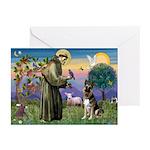 St. Francis & German Shepherd Greeting Cards (Pk