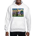 St. Francis & German Shepherd Hooded Sweatshirt