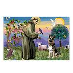 St. Francis & German Shepherd Postcards (Package