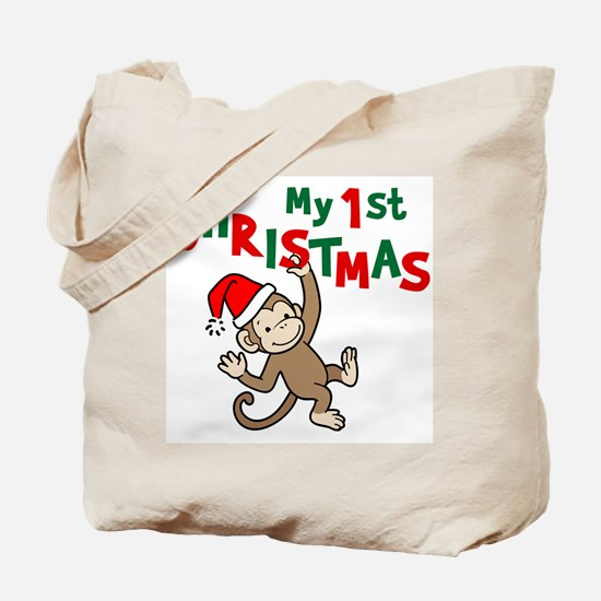 My First Christmas - Monkey Tote Bag