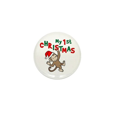 My First Christmas - Monkey Mini Button (100 pack)