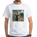 St Francis & Golden White T-Shirt