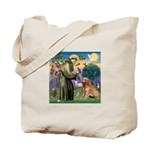 St Francis & Golden Tote Bag