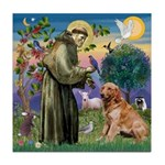 St Francis & Golden Tile Coaster