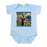 Saint Francis' Golden Infant Bodysuit