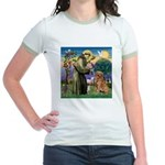 Saint Francis' Golden Jr. Ringer T-Shirt