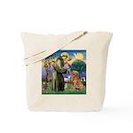 Saint Francis' Golden Tote Bag