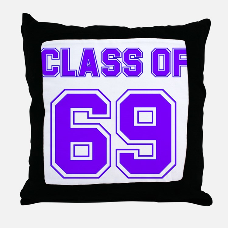Groovy Class of 69 Throw Pillow
