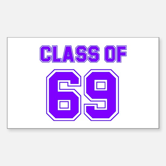 Groovy Class of 69 Rectangle Decal