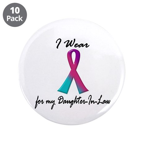 """Thyroid Ribbon 1 (Daughter-In-Law) 3.5"""" Button (10"""