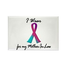 Thyroid Ribbon 1 (Mother-In-Law) Rectangle Magnet