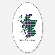 Map-MacFarlane hunting Sticker (Oval)