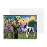 St. Francis & Great Dane Greeting Card