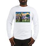St. Francis & Great Dane Long Sleeve T-Shirt