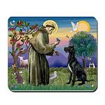 St Francis / Black G-Dane (N) Mousepad