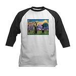 St Francis / Black G-Dane (N) Kids Baseball Jersey