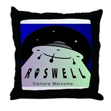 Roswell UFO Throw Pillow