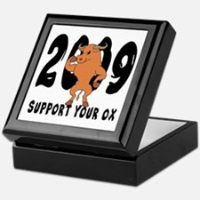 Funny Year of The Ox Keepsake Box