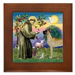Saint Francis' Great Dane Framed Tile