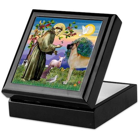 Saint Francis' Great Dane Keepsake Box