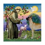 Saint Francis' Great Dane Tile Coaster
