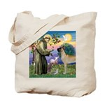 Saint Francis' Great Dane Tote Bag