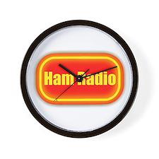 Ham Radio (retro look) Wall Clock
