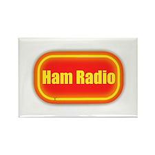 Ham Radio (retro look) Rectangle Magnet